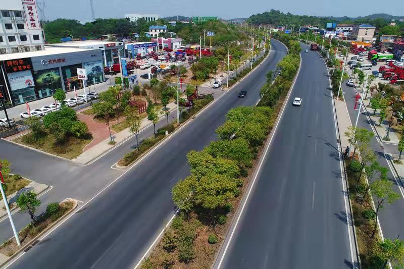 107国道改造后路畅景美
